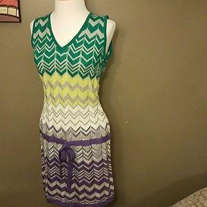 NWT BCBGMaxazria Chevron Sweater Dress